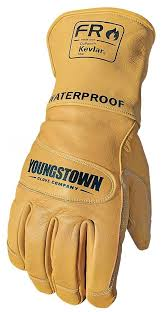 youngstown fr waterproof leather gloves with kevlar cut level 2 palmflex