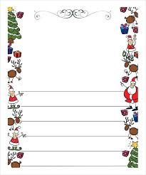 Stationery Download Now Free Letter Borders Christmas Stationary