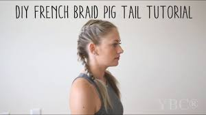 French Braid Pigtail Tutorial