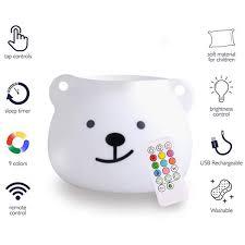 Amazon Child Night Light Xhyaims Portable Cute Animal Silicone Baby Led Nursery Night Lights With Touch Sensor