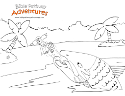 Jonah And The Whale Coloring Pages For Kids With Jonah Coloring