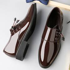 <b>Men Pointed</b> Toe Color Match Leather Formal <b>Business</b> Shoes ...