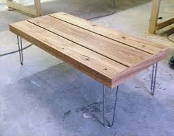 TURVAS Retro Pallet Coffee Table In Light Oak U0026 With Vintage Pallet Coffee Table With Hairpin Legs