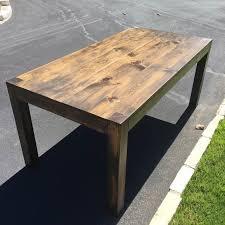 rustic modern farmhouse table