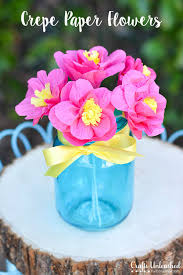 Make Crepe Paper Flower How To Make Paper Flowers Tutorial Crafts Unleashed