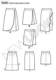 Wrap Skirt Pattern Awesome New Look 48 Misses' Mock Wrap Skirt With Front And Length Variations