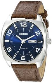michel herbelin newport yacht club chrono automatic watches seiko men s snkn37 stainless steel automatic self wind watch brown leather band