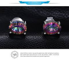 JewelryPalace 1.5ct Genuine <b>Natural Fire Rainbow Mystic</b> Topaz ...