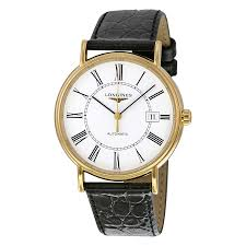 longines le grande classic gold plated stainless steel mens watch zoom