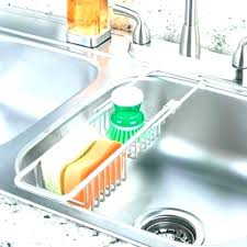 best kitchen sink sponge caddy for holder organizer peachy design stylish metro aluminum silver s