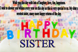 Quotes For Sister Birthday Custom Birthday Wishes For Sister TopBirthdayQuotes