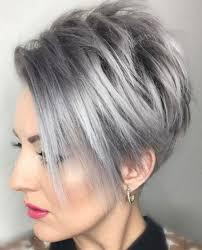 Grey Pixie Hair Cut Gray Hair