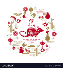 chinese new year card 2020 happy chinese new year 2020 card with rat chinese