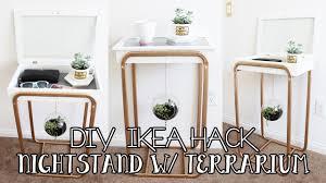 diy ikea s nightstand with hanging succulent terrarium diy ikea furniture