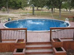 D Backyard Above Ground Pools  Decks For Cost