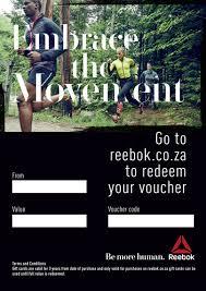 Create A Voucher Mesmerizing Reebok Gift Voucher