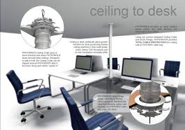 ceiling to desk