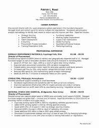 Sample Resume For Procurement Officer New Free Download Supply Ficer