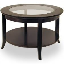 coffee table mesmerizing balck round rustic glass and wood round coffee table ikea depressed ideas