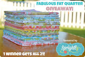 Sew Can Do: Craftastic Link Party Time & Sprightly Fabric Fat Quarter  Giveaway!