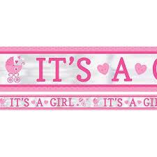 Foil Banner Its A Girl 25ft 1pk