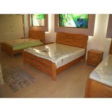 Solid Wood Wooden Bed Fame Design Bedroom Set