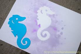 Stencil Spraypaint Watercolor Spray Painting With Stencils Shannons Tot School