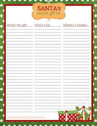christmas card list app checklist examplesistmas gift printable planner menu planners and