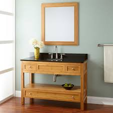 Bamboo Bathroom Sink 48 Narrow Depth Miles Bamboo Vanity For Undermount Sink Bathroom