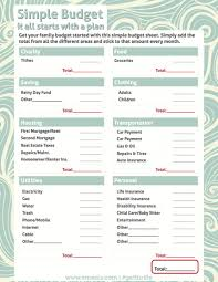 Simple Budget Plan Magnificent Simple Budget Planner Worksheet Free