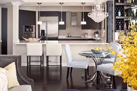 mercury glass pendant light kitchen transitional with breakfast bar chrome pedestal cream bar stools