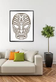 Mask Svg, Polynesian Tattoo, Tshirt Design, Cuttable Svg, Vinyl Regarding  Polynesian Wall