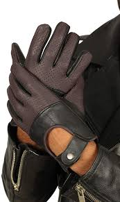com red and black leather driving gloves for men mens winter deerskin leather gloves clothing