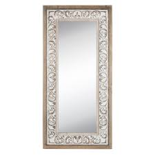flourish rustic wood wall mirror