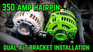 Dual Alternator bracket installation with 350 Amp - YouTube