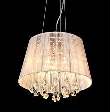kensington 3 lamp white chandelier