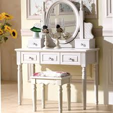 Dresser European style bedroom makeup table ivory white small Huxing make  upChina
