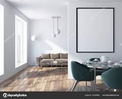 Luxus Beige Sofa Stehend Einem Skandinavischen Stil Loft