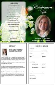 How To Make A Funeral Program Creating A Funeral Program Template For A Funeral Order Of