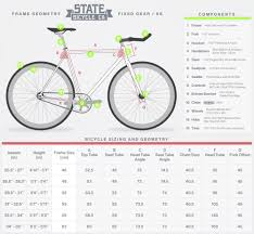 1 State Size Chart Size Chart State Bicycle Co