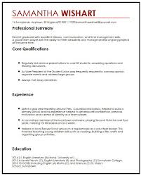 Cv With Work Experience 8 My College Scout