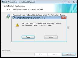 Create A Directory Error 1317 An Error Occurred While Attempting To Create The