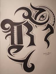 Pin Letter R Designs Tattoos Tattoo Style With Pinterest Its On