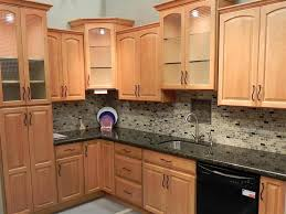 Small Kitchen Backsplash Cute Small Kitchen Design And Decoration With Black Glass Tile