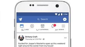 facebook announces app redesign that