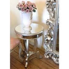 round side table semi antique distressed a semi antique distressed wooden round wire side table target