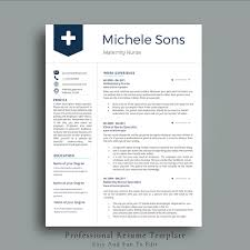 Professional Nurse Resume Template Resume Templates Creative