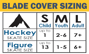 Hockey Skate Chart Athletico Ice Skate Blade Covers Guards For Hockey Skates Figure Skates And Ice Skates Skating Soakers Cover Blades From Youth To Adult Size