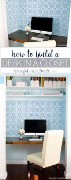 how to build a office. How To Build Office Desk. Learn A Desk In Closet For The K