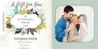 Photography Gift Certificate Template Photo Gift Certificate Templates